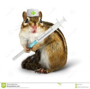 -divertida-con-la-jeringuilla-y-el-sombrero-del-doctor-60124471